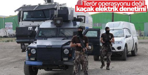 Adana'da özel harekat destekli kaçak elektrik denetimi