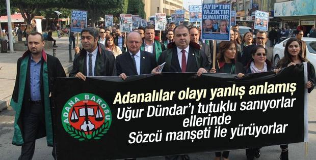 Adanalı avukatlardan Sözcü manşetiyle protesto