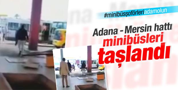 Adana'da TOK minibüsleri taşlandı