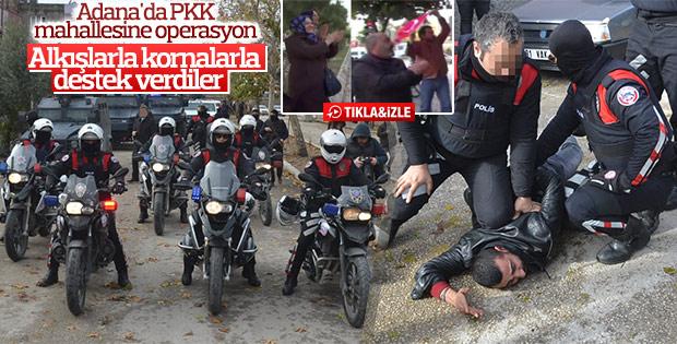 Adana'da polis terör operasyon yaptı vatandaşlar alkışladı