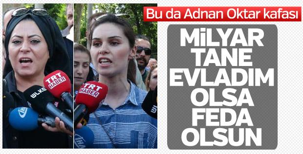 Adnan Oktar'a destek eylemi