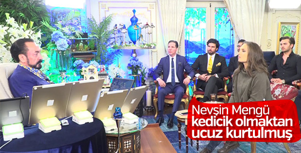Adnan Oktar'ın villasına son giren gazeteci Nevşin Mengü