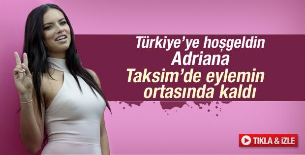 Adriana Lima'nın Taksim'de eylem şaşkınlığı