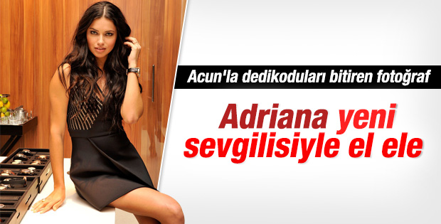 Adriana Lima sevgilisiyle görüntülendi