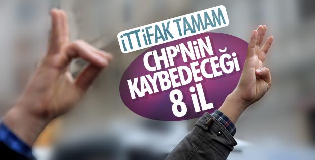 Cumhur İttifakı'nın kuruluşuyla CHP'nin kaybedeceği iller