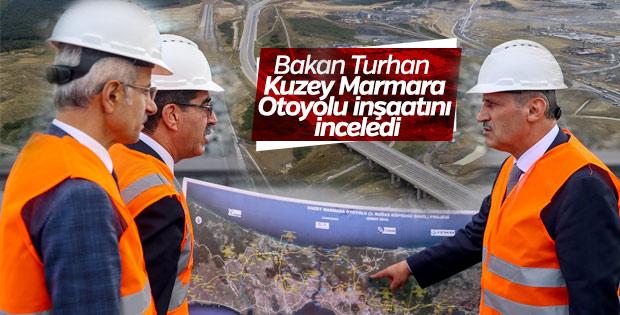 Kuzey Marmara Otoyolu inşaatının son hali görüntülendi