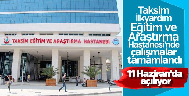 Taksim İlkyardım Eğitim ve Araştırma Hastanesi yenilendi