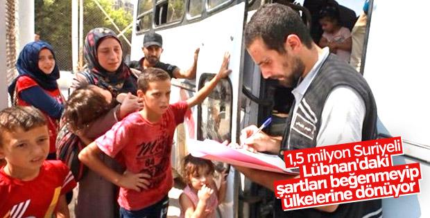 Lübnan'da yaşayan Suriyeliler ülkelerine dönüyor