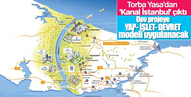 Kanal İstanbul'a yap- işlet- devret modeli