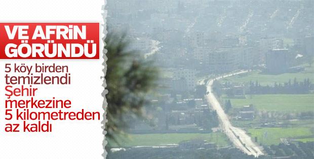 Mehmetçik adım adım Afrin'e ilerliyor