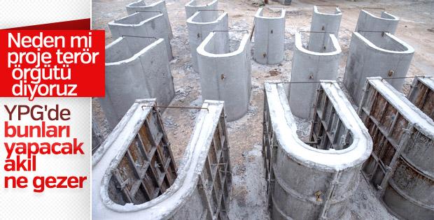 Afrin'de YPG'nin beton fabrikası bulundu