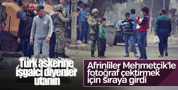 Afrin halkının Mehmetçik sevgisi