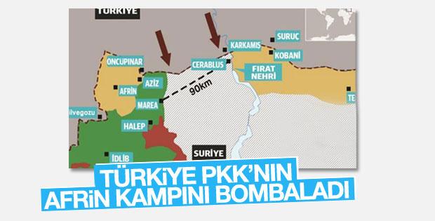 TSK, YPG hedeflerini vurdu