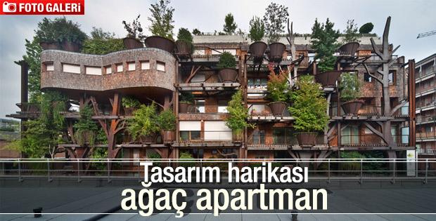 Şehrin içinde nefes alan apartman
