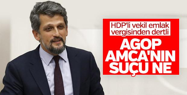 HDP'li Garo Paylan emlak vergisine karşı