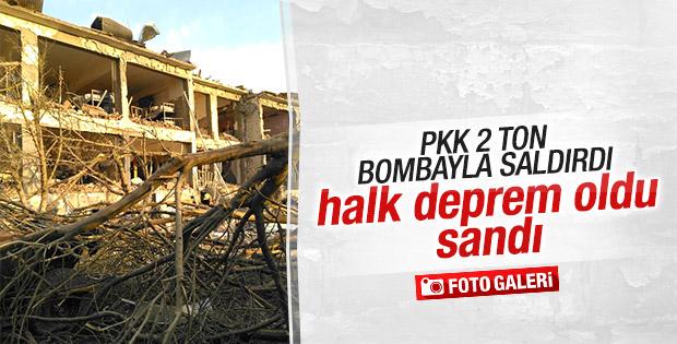 Ağrı'daki terör saldırısını deprem sandılar