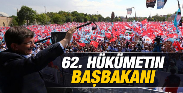 Erdoğan sonrası Başbakan Ahmet Davutoğlu