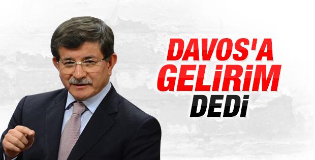 Başbakan Davutoğlu Davos'a gidecek