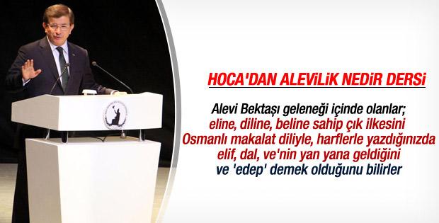 Başbakan Davutoğlu Hacıbektaş'ta konuştu