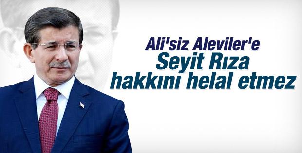 Davutoğlu'ndan Ali'siz Aleviler'e Seyit Rıza hatırlatma İZLE