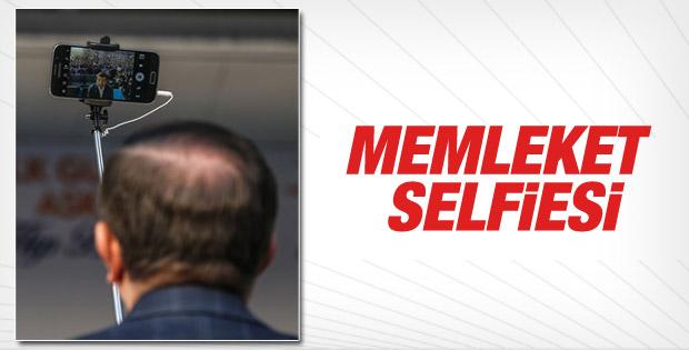 Başbakan Davutoğlu'ndan Konya selfiesi