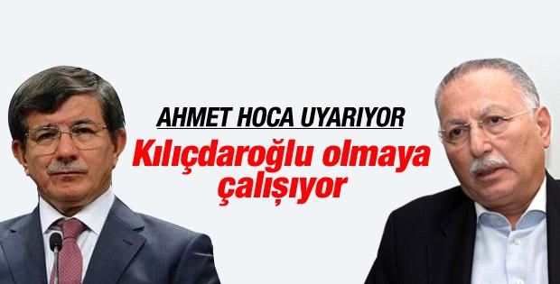 Davutoğlu:Ekmeleddin Bey'de Kılıçdaroğlulaşma eğilimi var