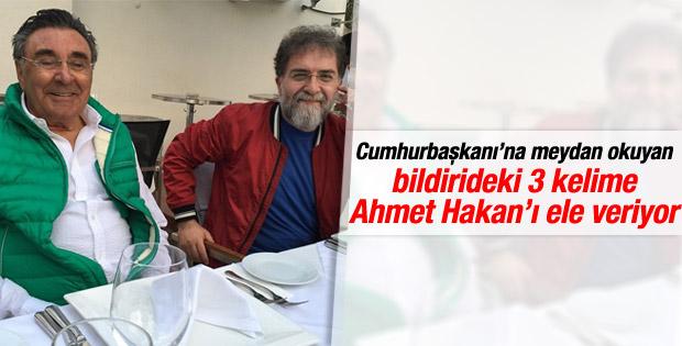Hürriyet'in bildirisine Ahmet Hakan dokunuşu