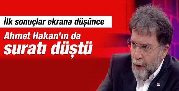 Ahmet Hakan'ın canlı yayında yüzü düştü