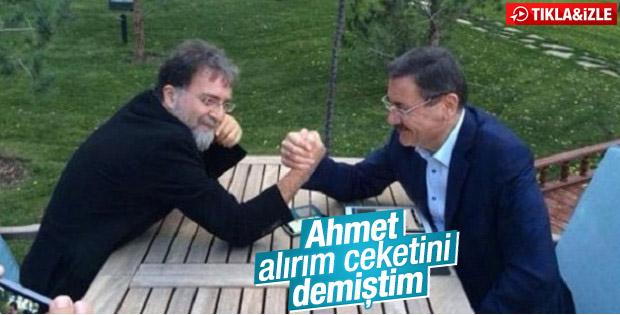 Melih Gökçek Ahmet Hakan'dan takım elbise kazandı