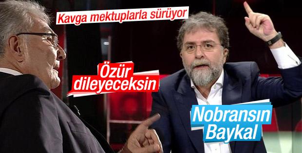 Ahmet Hakan ve Deniz Baykal'ın 'özür' tartışması