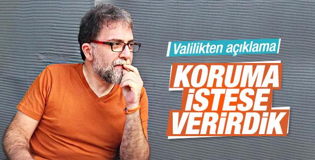 İstanbul Valiliği'nden Ahmet Hakan açıklaması