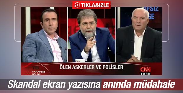Ahmet Hakan canlı yayında KJ'yi düzelttirdi