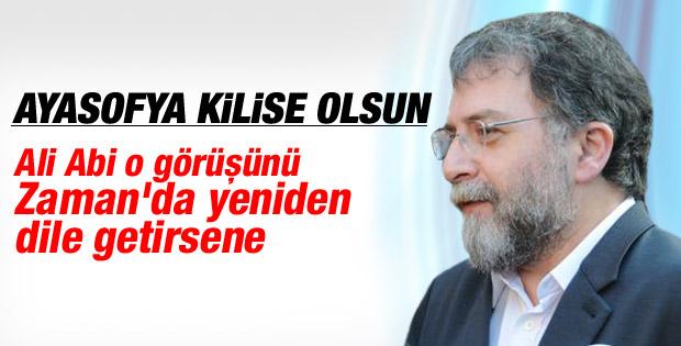 Ahmet Hakan'dan Ali Bulaç'a Ayasofya çağrısı