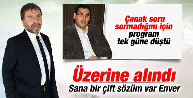 Enver Aysever'in sözleri Ahmet Hakan'ı kızdırdı