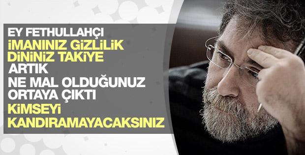 Ahmet Hakan Fethullahçılara seslendi