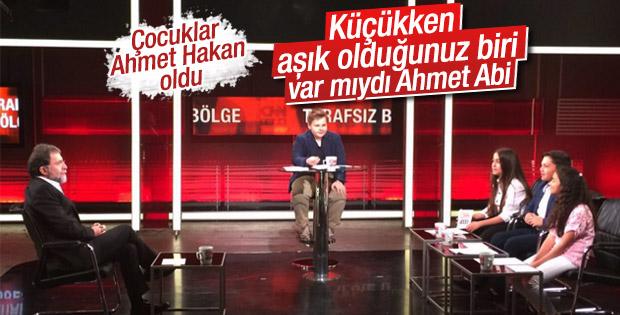 Çocuklar Ahmet Hakan'ın özel hayatına girdi