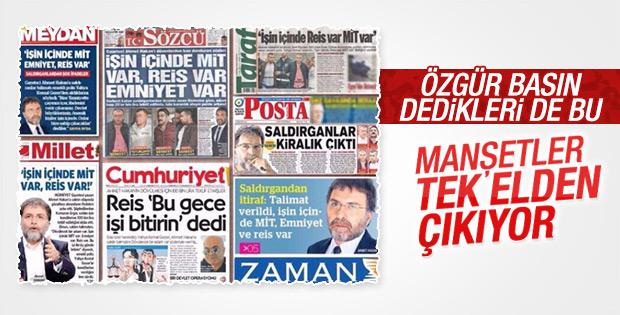 Muhalif medyadan ortaklaşa Ahmet Hakan manşetleri