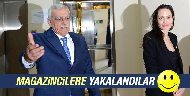 Ahmet Türk Angelina Jolie ve Erdoğan'ı karşıladı