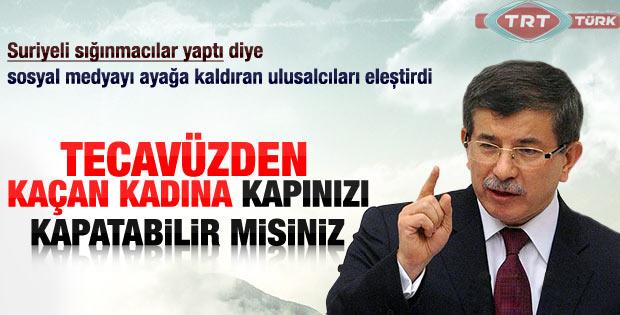 Ahmet Davutoğlu'ndan yeni açıklamalar