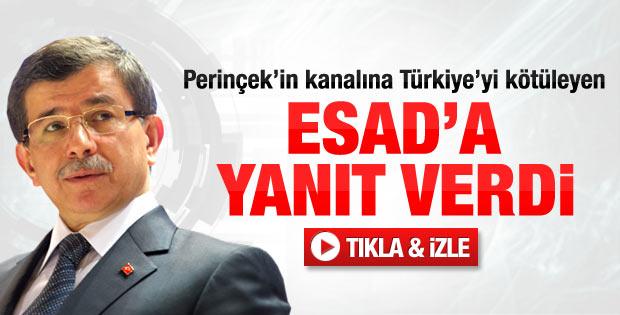 Ahmet Davutoğlu'ndan Beşar Esad'a yanıt - Video
