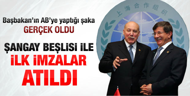 Türkiye ile Şangay Örgütü arasında işbirliği anlaşması