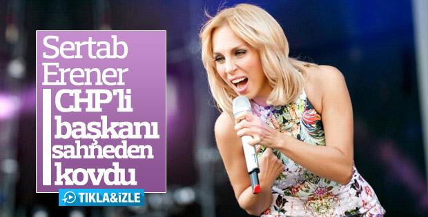 Sertab Erener CHP'li başkana kızdı, sahneyi terk etti