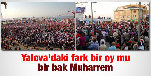 AK Parti ile CHP'nin Yalova mitingleri