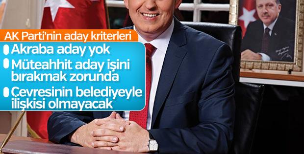 İşte AK Parti'nin yerel seçim kriterleri