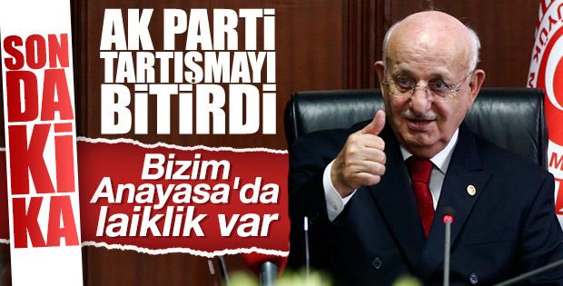 Meclis Başkanı'nın laiklik çıkışına AK Parti'den tepki