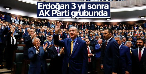 Cumhurbaşkanı AK Parti grup toplantısında