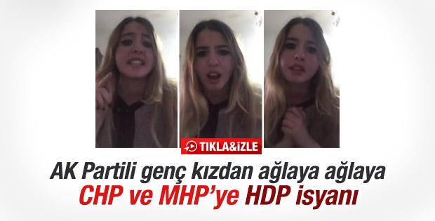 AK Partili genç kızdan muhalefete tepki