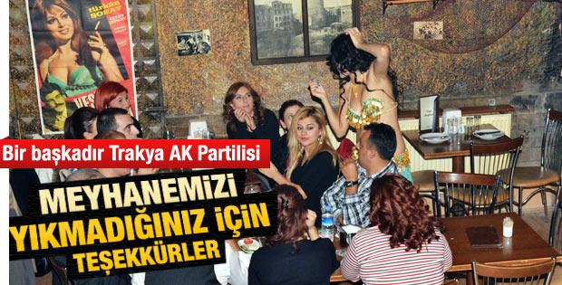 Keşan AK Parti örgütünden meyhane teşekkürü