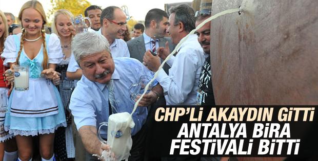 Antalya'da düzenlenen Oktoberfest artık yok İZLE