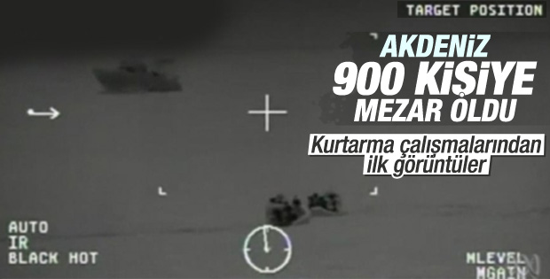 Akdeniz'de batan mülteci gemisinde 950 kişi var iddiası